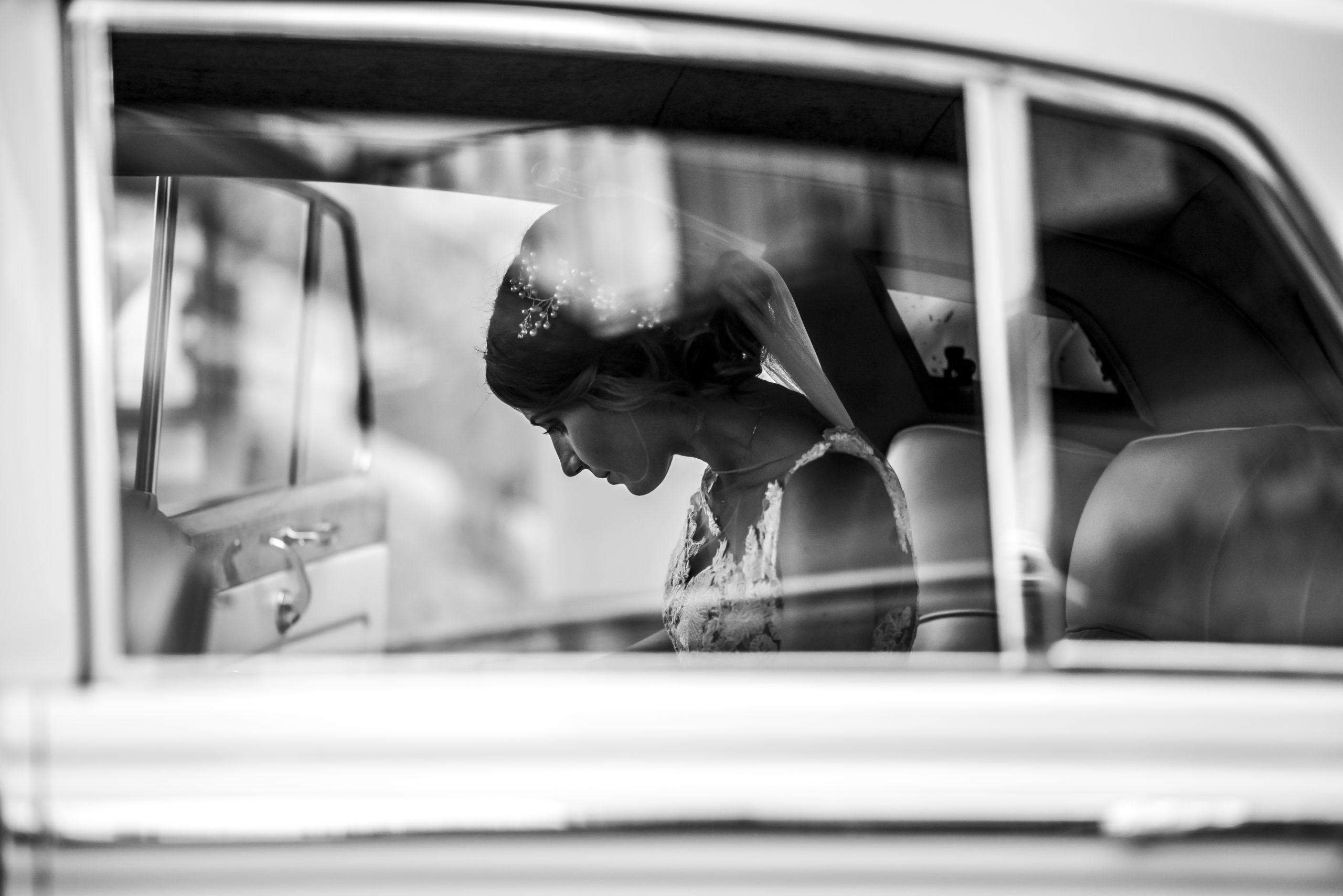 foto matrimonio sposa bianco e nero