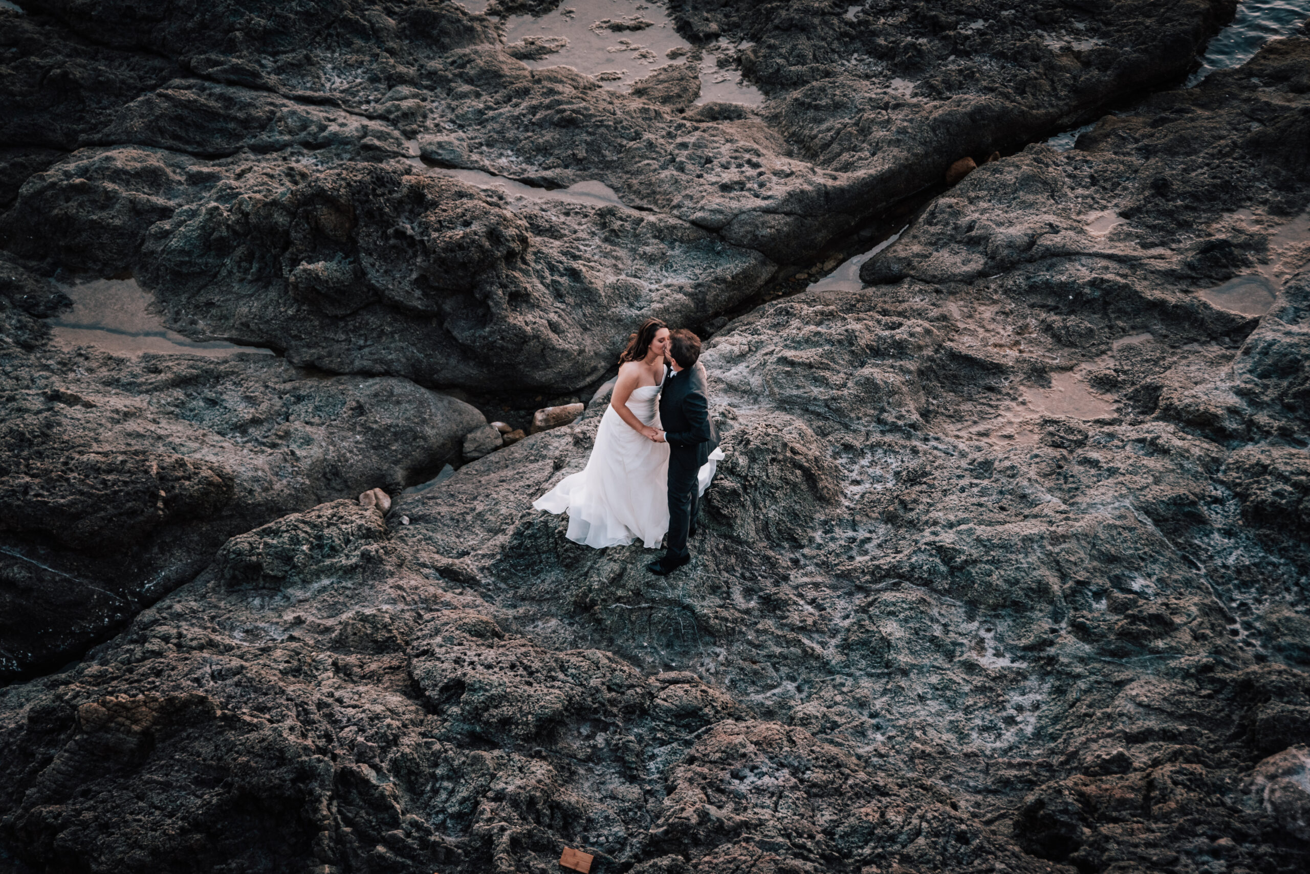 sposi sugli scogli