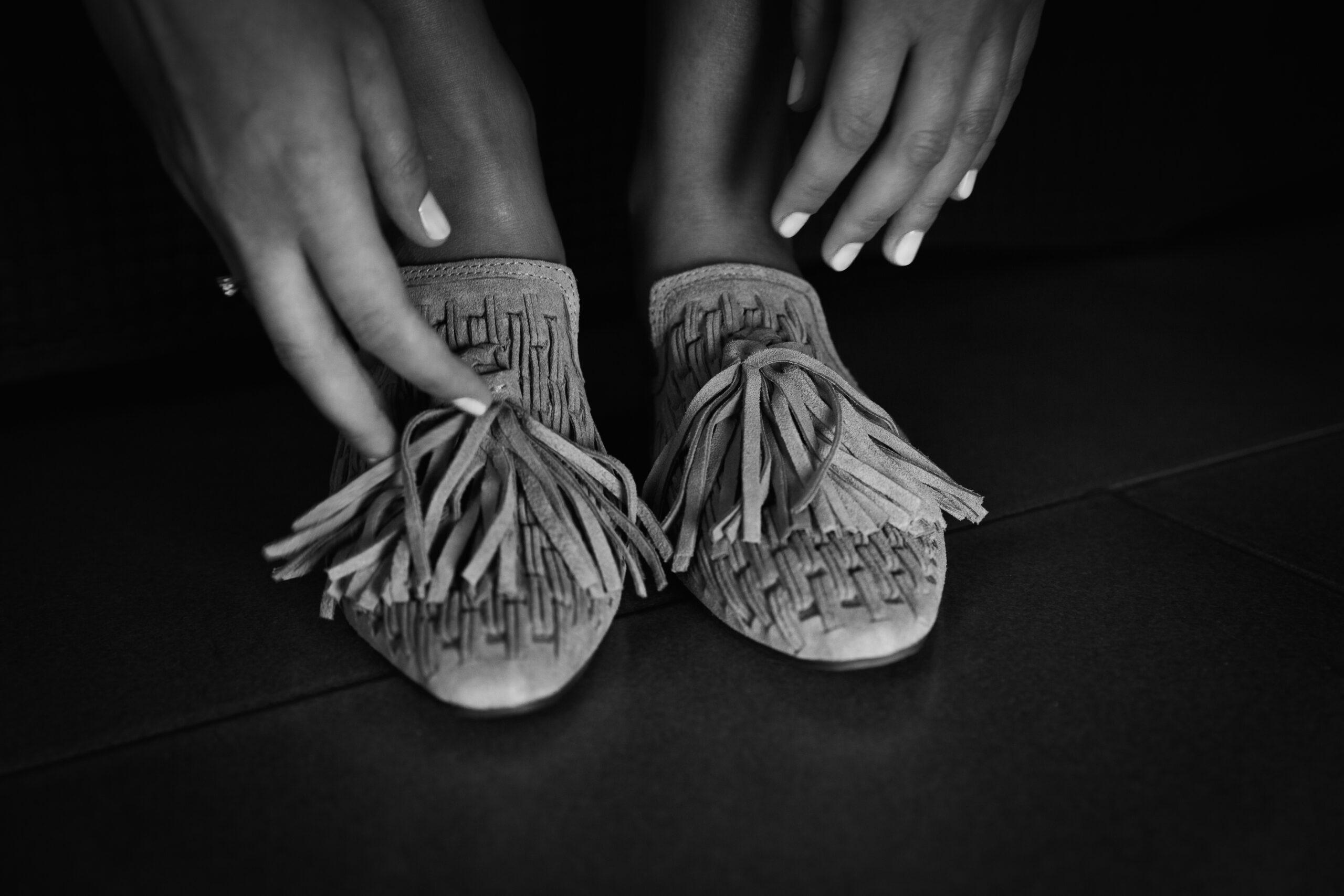 scarpe tradizionali ucraine da sposa